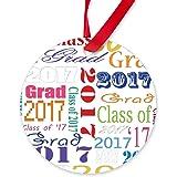 CafePress - 2017 Grad - Round Ornament
