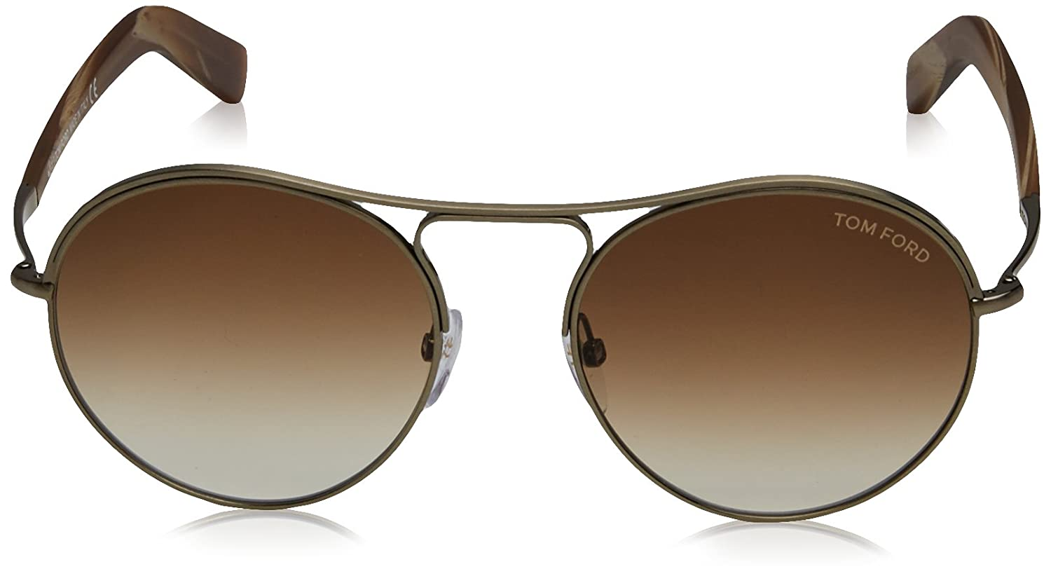 a8acac4d6b Tom Ford Sunglasses TF 449 Jessie 33F Gold Brown Multicolor 54mm at Amazon  Men s Clothing store