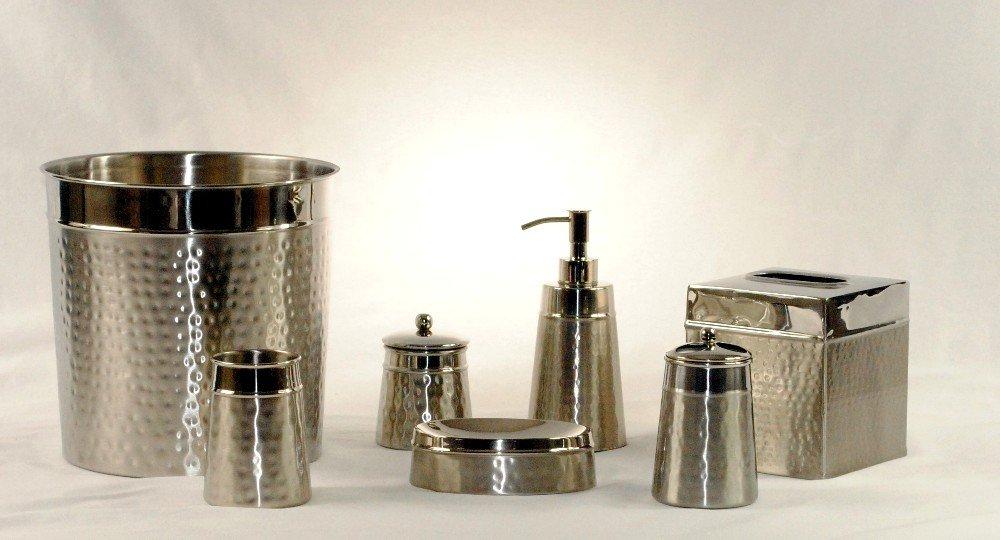 3SCompany Hammered 2 Tone Bathroom Accessories Set of 7