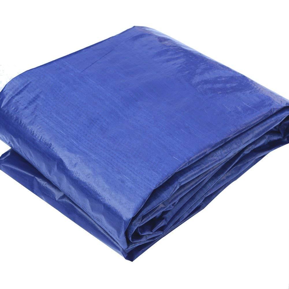 JINSH Regenfestes Tuch, wasserdicht, graue, Blaue Plane, Plastikmatten mit Markise, Markise im Freien, staubdicht und Winddicht (Farbe   A, Größe   8 x 10m)