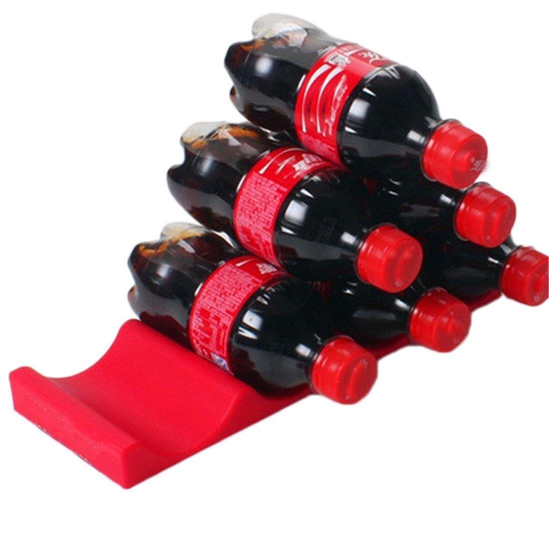 flaschenhalter f/ür k/ühlschrank Rot Weinregal K/ühlschrank Weinst/änder Getr/änkehalter Stapelhilfe f/ür Flaschen und Dosen