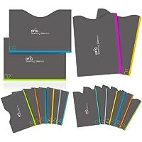 Protezione RFID, Aerb 16-Pack Blocco RFID Carta di Credito e Passaporto [12 Blocco Carta di Credito & 4 Blocco Passaporto]