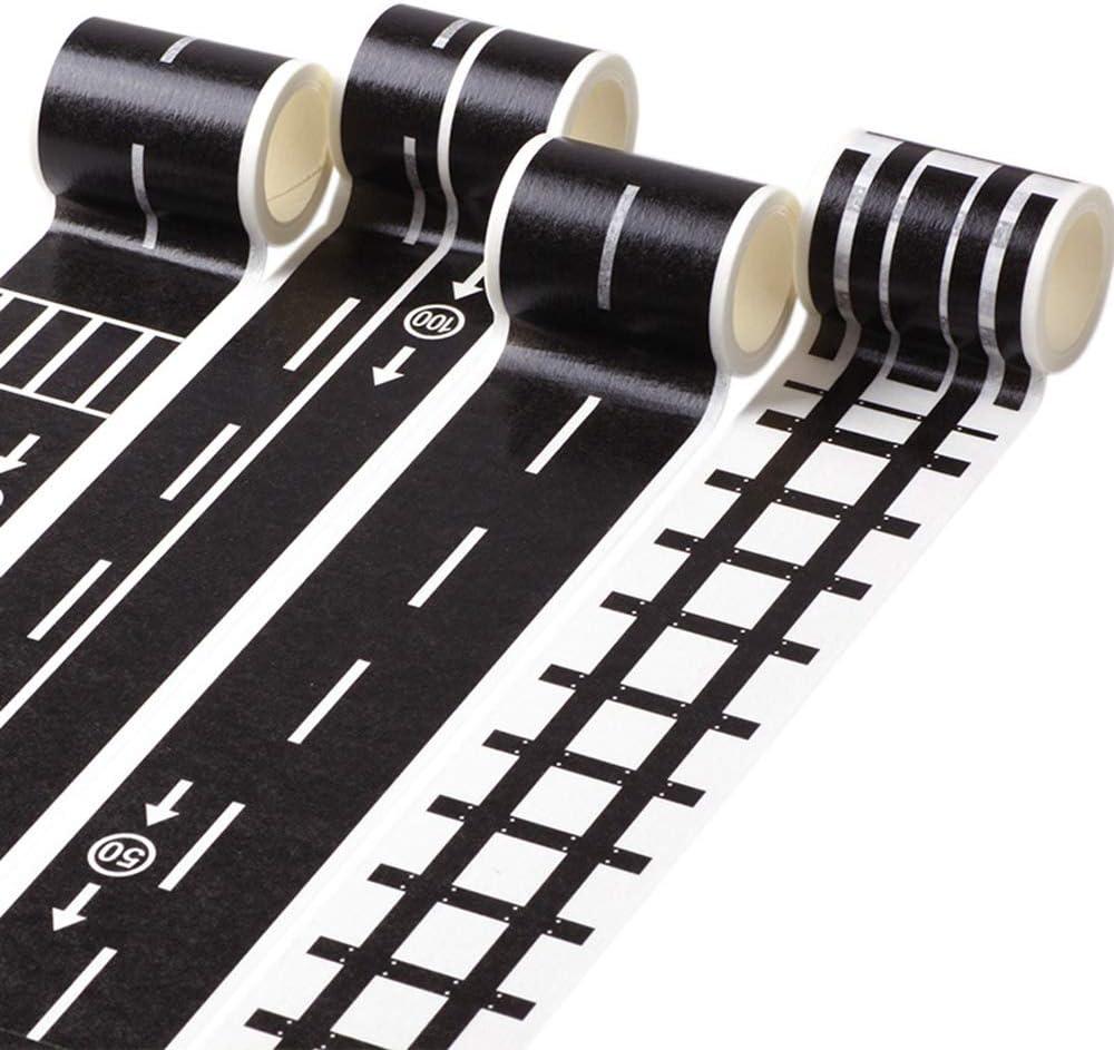 Ordinary Road Tape Papier 5m*4.8cm Eisenbahn Abnehmbare Schiene aaerp Heimwerker-Klebeband