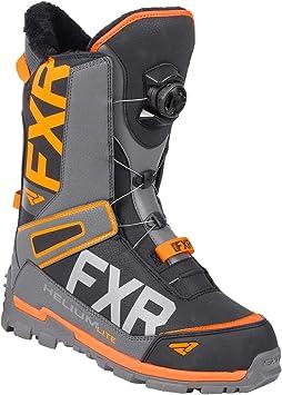 FXR Helium Lite BOA Boot Black//Charcoal//Orange, Mens 9 // Womens 11