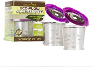 Perfect Pod ECO-Flow Stainless Steel Reusable K-Cup Coffee Pod Metal Filter, 2-Pack