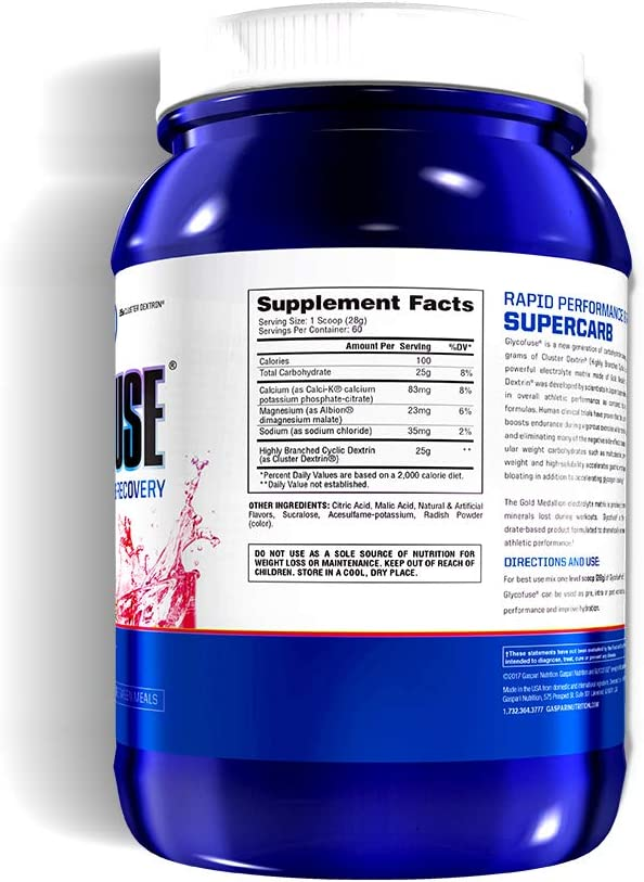 Gaspari Nutrition Glycofuse Mineral Supplement, Strawberry Kiwi, 3.7 Pound