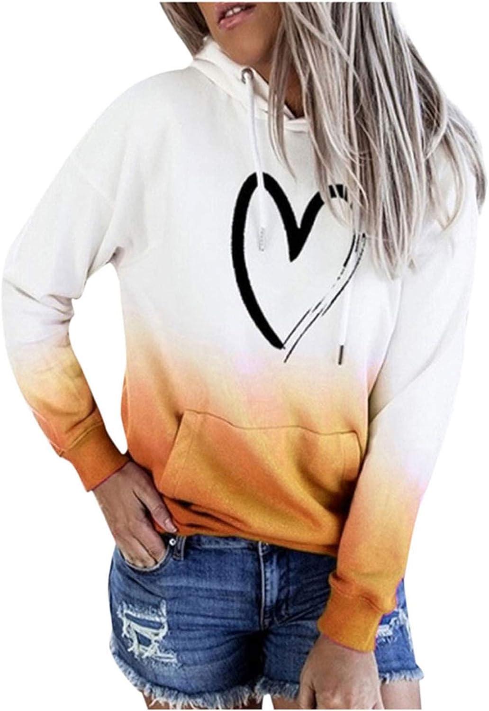 Women Plus Size Sweatshirts O Neck Long Sleeve Hooded Pullover Tops Tie Dye Hoodies Sweatshirt with Pocket