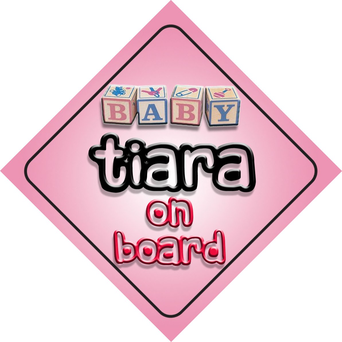 Baby Girl Tiara on board novelty car sign gift / present for new child / newborn baby Quality Goods Ltd