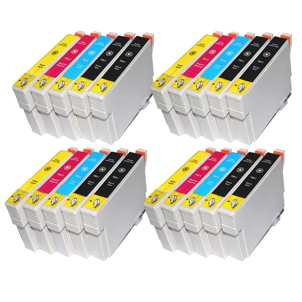 Tian – 20 compatibles cartuchos de tinta T0611 T0613 T0614 T0614 ...
