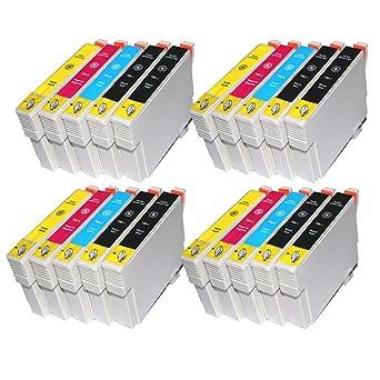 Tian - 20 compatibles cartuchos de tinta T0611 T0613 T0614 ...