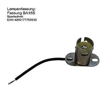 Underbar BAS -Sockel für Lampe Positionslampe BA-15s Fassung PP-47