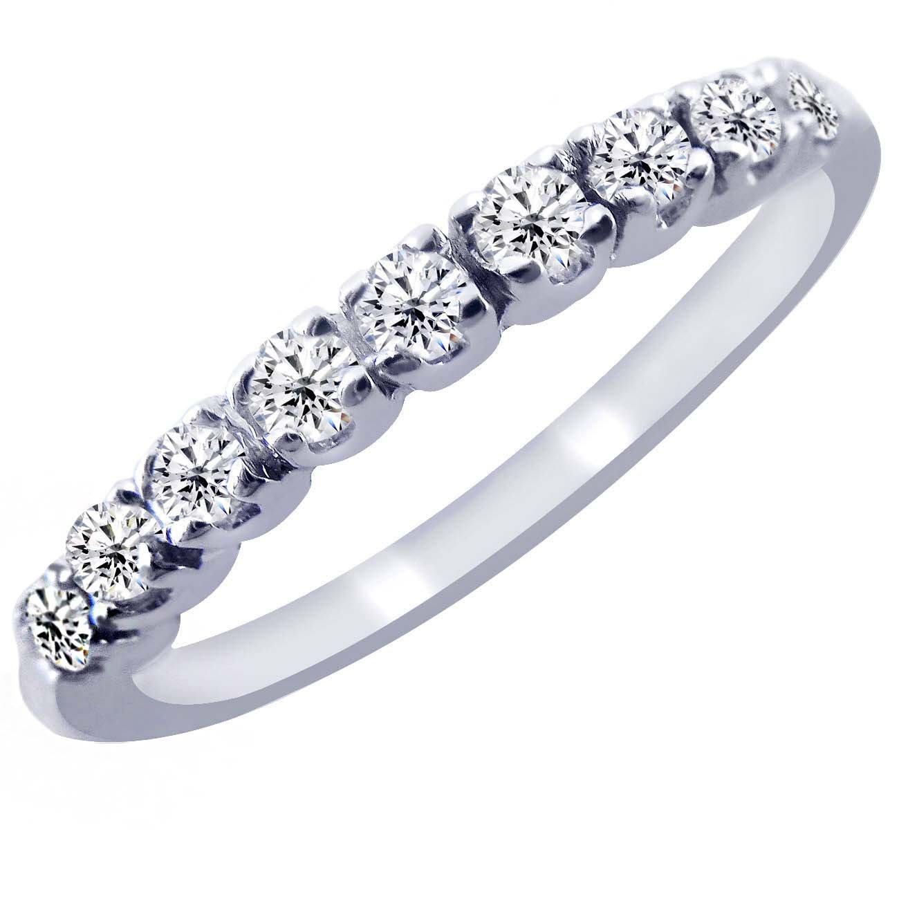 Amazon Com 0 20 Carat Diamond Wedding Anniversary Band Ring 10k