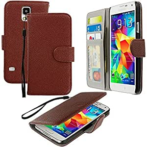 Accessory Planet(TM) Brown Wallet Leather Pouch Case Cover with Credit Card Slots Holder Accessory for Samsung Galaxy S5 by lolosakes