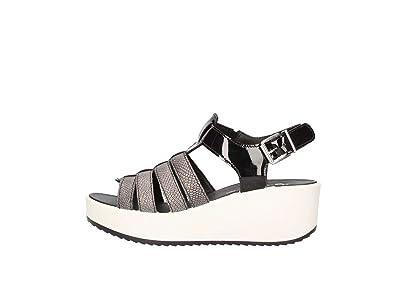 Sandalen Frauen Schuhe mit Keil 78400/00 Größe 37 BLACK Igi & Co mgQPgGc