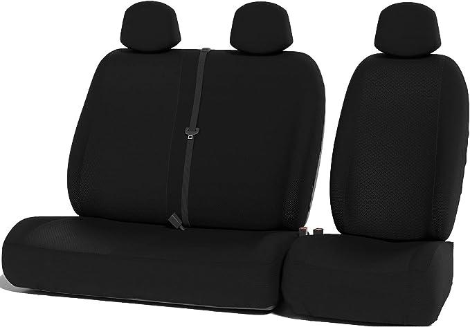 Upgrade4cars Auto Sitzbezüge Set Für Den Fahrersitz Und Die Doppelsitzbank Transporter Schonbezüge Für Van Vordersitze Auto Schonbezug Universal Autozubehör Innenraum Auto
