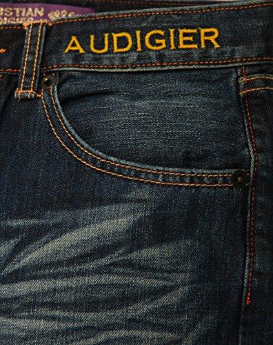 Christian Audigier Herren Jeans Blau Buddha EMB McQueen M67103