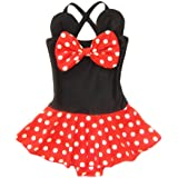 LOSORN ZPY Kid Toddler Baby Girls Bathing Suit Bow Dot One Piece Swimsuit Swimwear