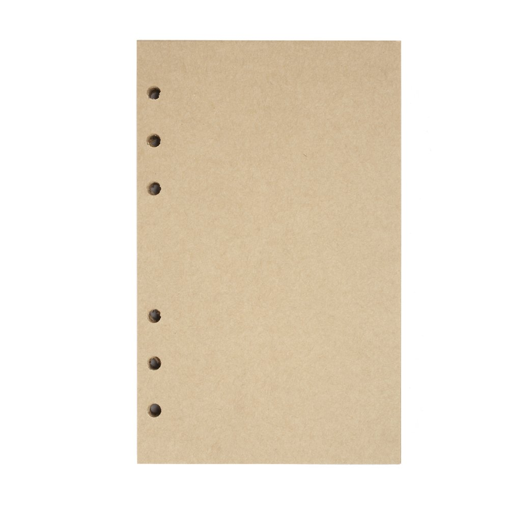 Leather Journal Refills Lined, MALEDEN Leather Journal Notebook Refillable Paper for 5x7 Traveler Journal Inserts 200 Pages (Lined)