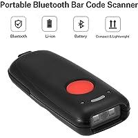 Richer-R Escáner de Códigos 1D Bluetooth Inalámbrico,Lector de Código de Barras con Cable USB para iOS/Android/Windows/Teléfonos iPhone/iPad/Android/Computadoras con Windows 7/8/10/XP.(Negro)