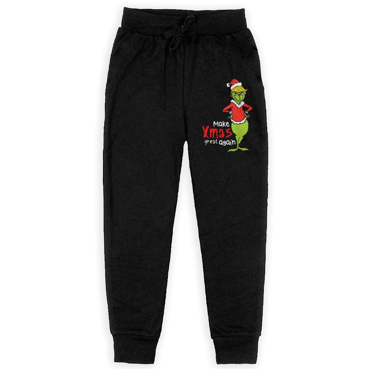 Sunshine Store Trump Grinch Shirt Boys Girls Teenage Long Sweatpant Jogger Pants