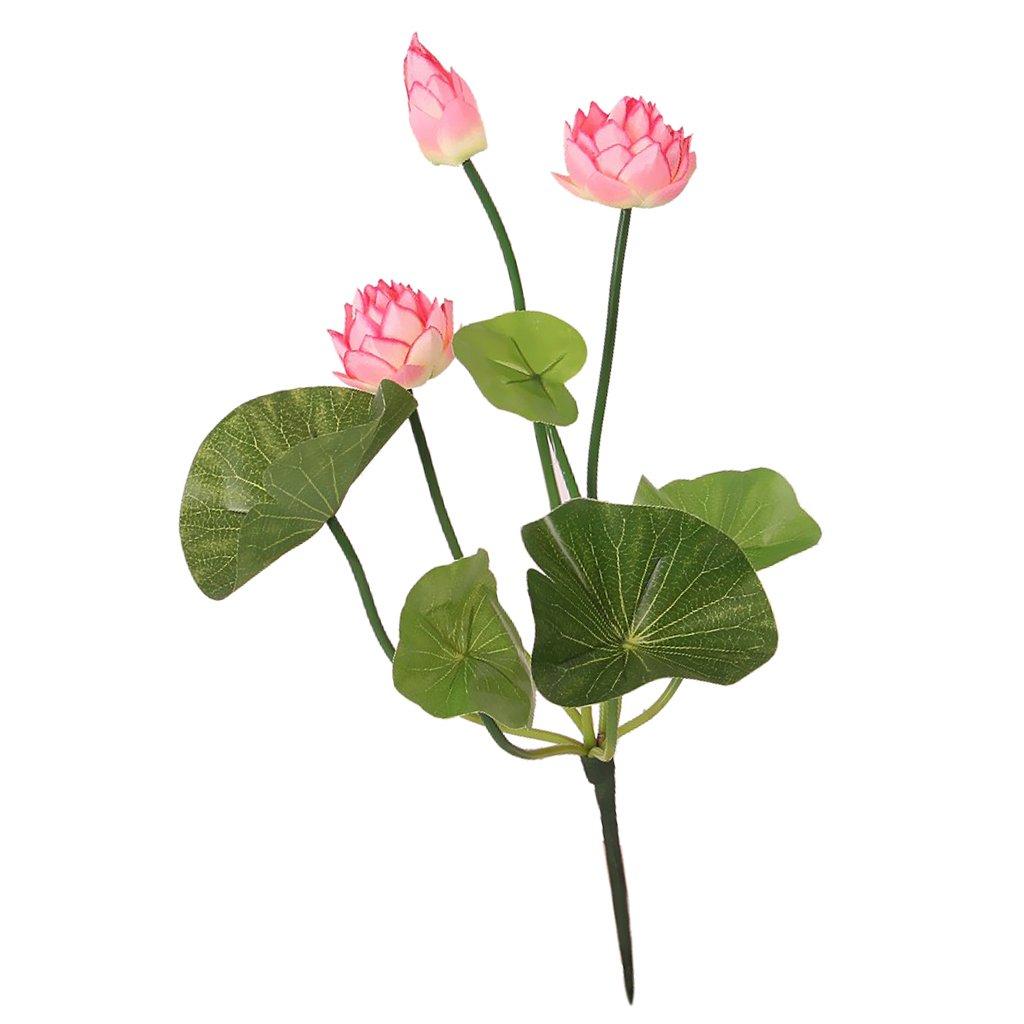 Amazon dovewill 2 piece faux flower waterlily artificial lotus amazon dovewill 2 piece faux flower waterlily artificial lotus green stem flower arrangement pink 46cm home kitchen izmirmasajfo