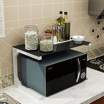 ACZZ Rack de horno de microondas, Rack de almacenamiento de ...