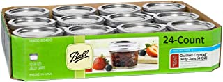 product image for Ball 4-Ounce Quilted Crystal Jelly Regular Mouth Jars with Lids and Bands, Set of 24