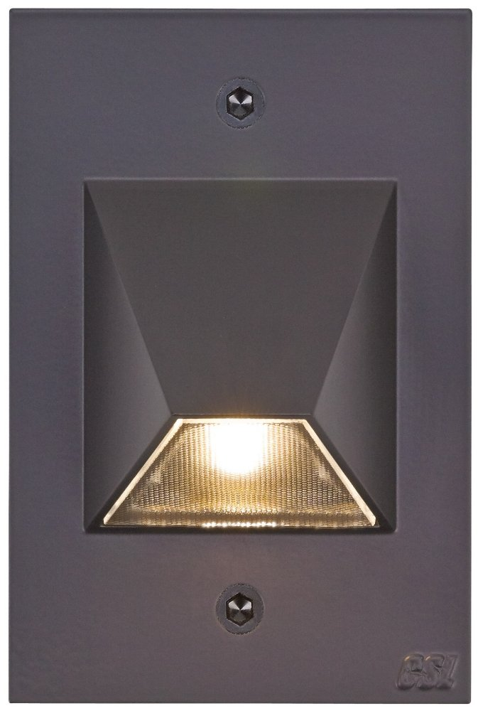 Bronze Trapezoid 4 1/2'' High LED Outdoor Step Light