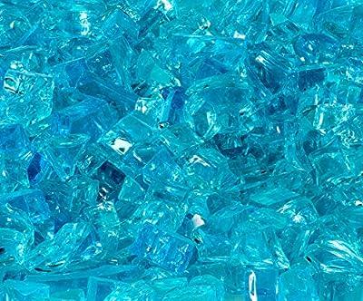 Quarter Inch Caribbean Blue Fire Glass, 10 Pound Bag