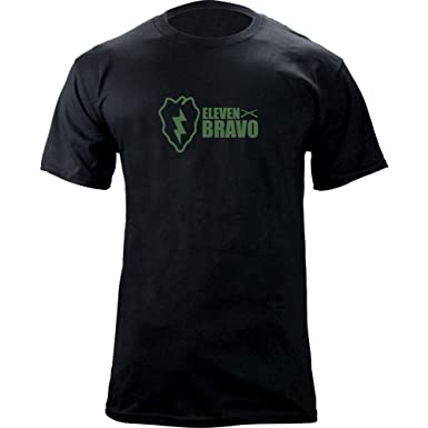 5fd1af3f Amazon.com: Army 25th Infantry Division 11 Bravo Infantry T-Shirt: Clothing