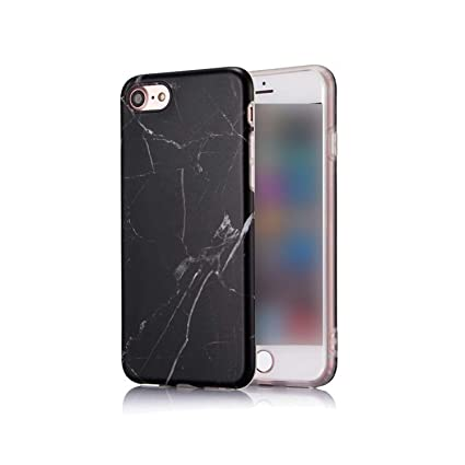 Amazon.com: Carcasa de lujo de mármol para iPhone 7, carcasa ...