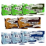 MEG - Military Energy Gum | 100mg of Caffeine Per Piece + Increase Energy + Boost Physical Performance + Multi Flavors of Arctic Mint , Spearmint, & Cinnamon + 8 Packs (40 Count)