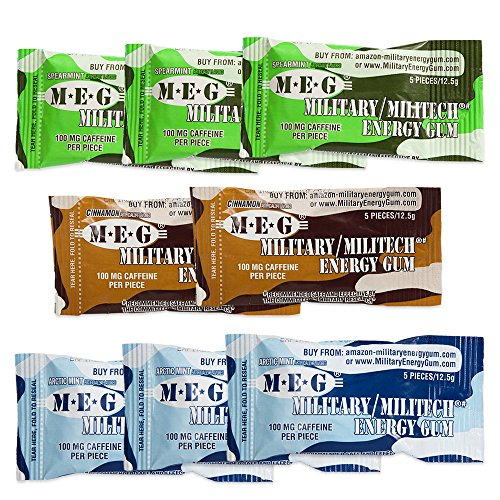 MEG Military Caffeine Performance Spearmint