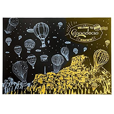 Mziart Famous City Scratch Night View, DIY Scratch Art Paper for Gift