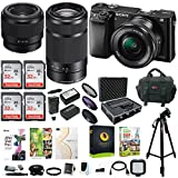 Sony Alpha a6000 Mirrorless Camera with 16-50mm & 55-210mm & 50mm Lens Bundle