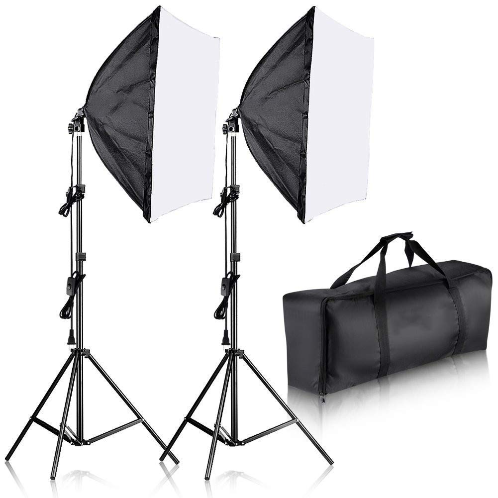 60 X 60 cm Photo Shooting Kit with Background Support System & Umbrella Softbox Lighting Kit, Photo Video Studio by NAICEE