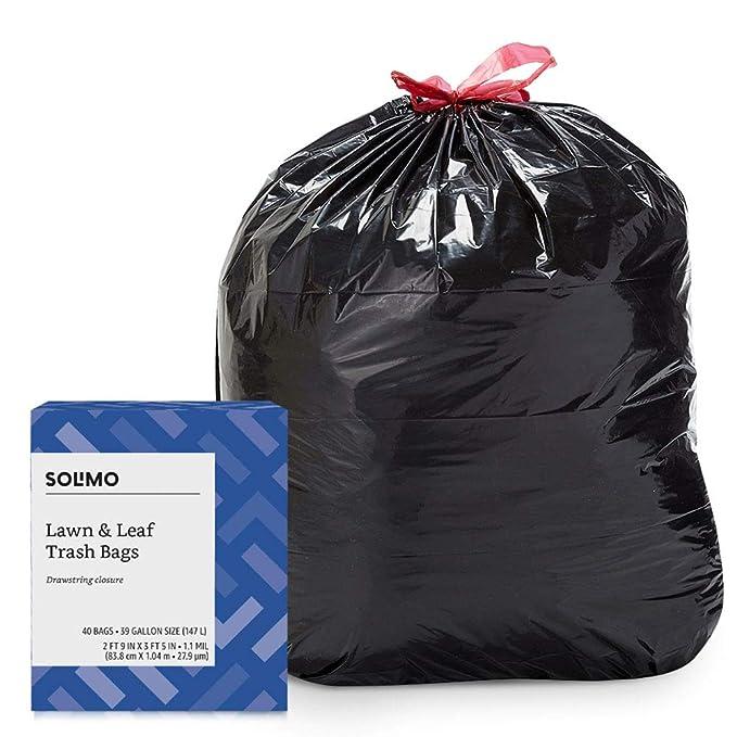 Amazon.com: Amazon Brand – Solimo bolsas de basura con ...