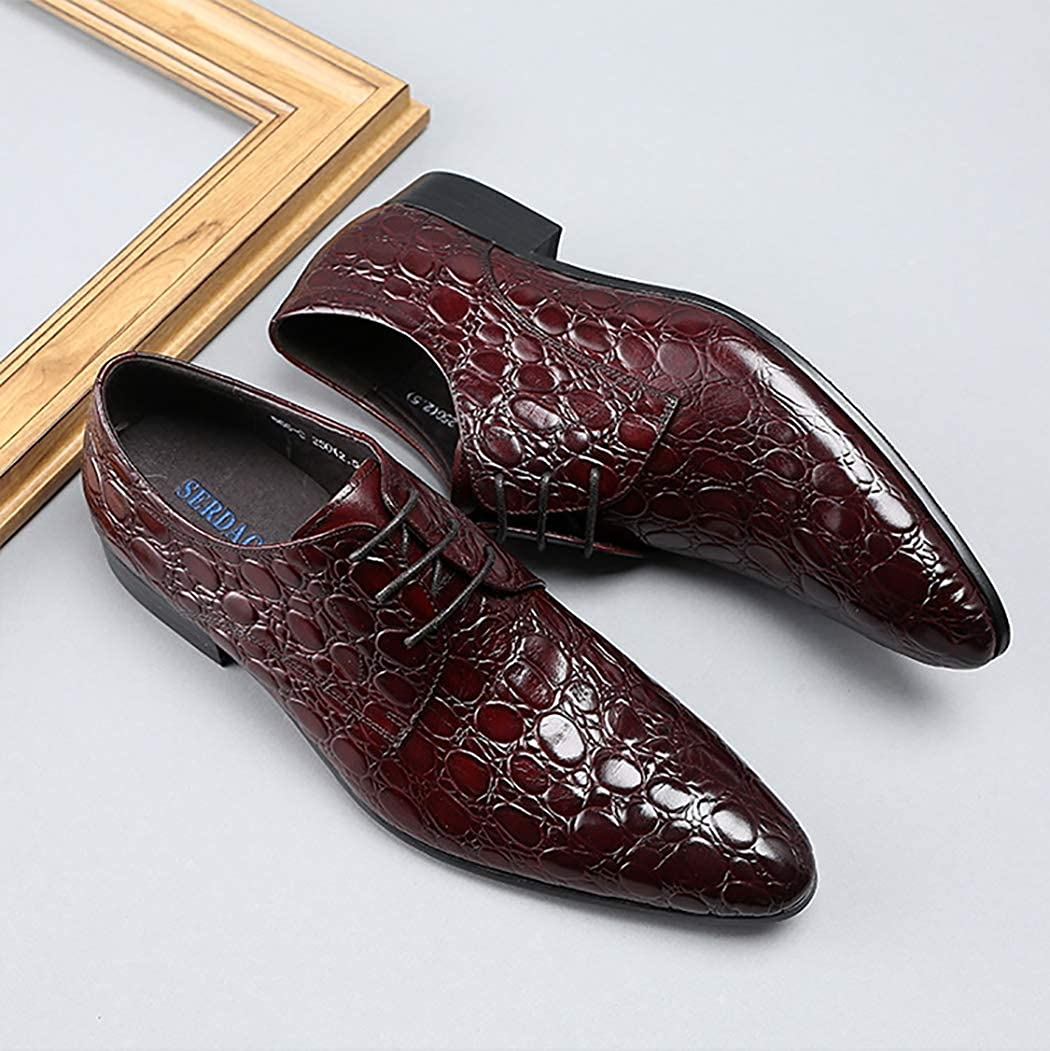 Oxford schuhe schuhe schuhe Herren Leder Formelle Schuhe Krokodilmuster wies Toe klassischen Stil Kleid Schuhe Lace Up Work Bussiness lässig B07NM9FKJK  65e5c1