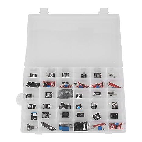 Kit de sensores para Arduino, 37 en 1 Módulos de sensores Diy Kit para usuarios