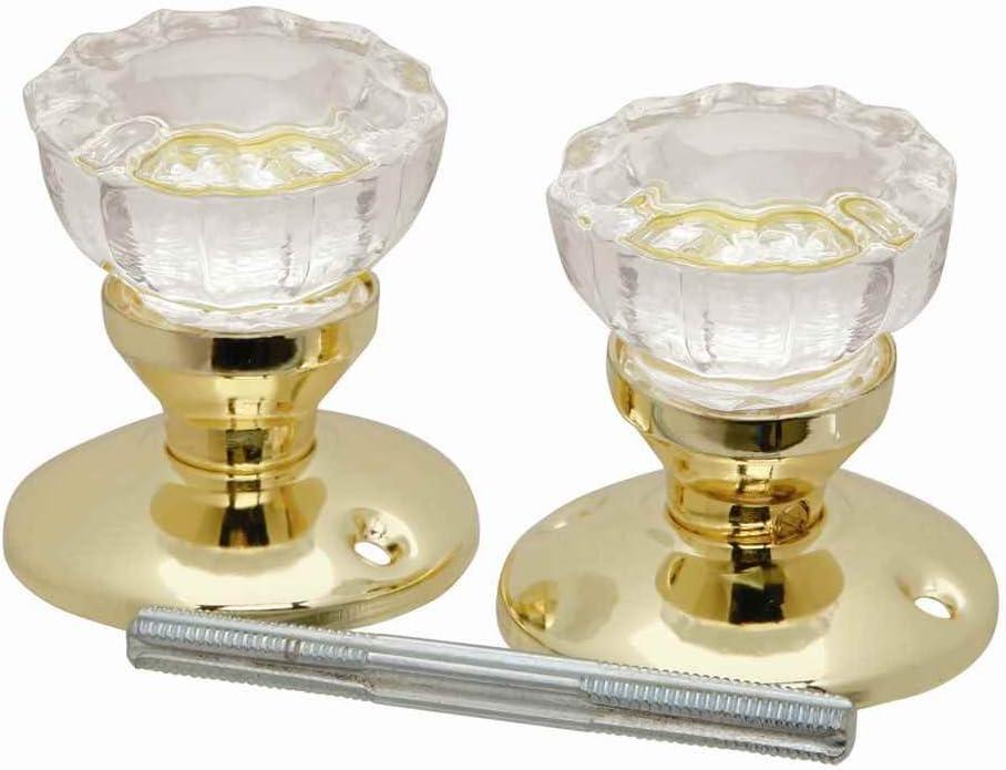 1.28 Diameter National Hardware S804-963 BB8012 Round Knobs in Antique Brass