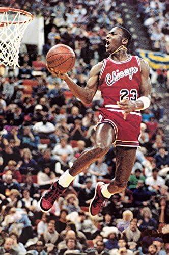 Michael Jordan Free Throw Basketball Painting Canvas Print Art Home Decor Wall