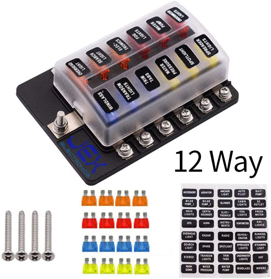 amazon.com: jex electronics 12-way fuse box atc ato blade fuse ...  amazon.com