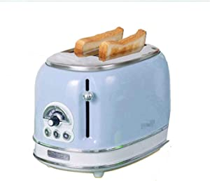 ASDFG Retro 2 Slice Toaster, Multi-function Breakfast Machine Toaster, 2 Slice Toaster, Reheat, Defrost And 6 Browning Settings, Removable Bread Crumb Tray