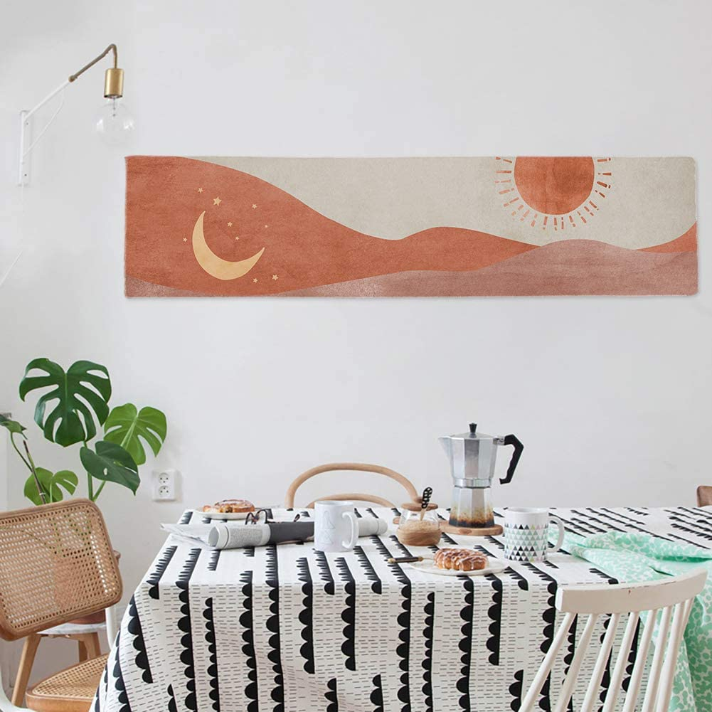 GYW Abstract Art Moon Phase Tapestry Cute Moon Tapestry Wall Hanging for Bedroom Living Room Decor (mountain)