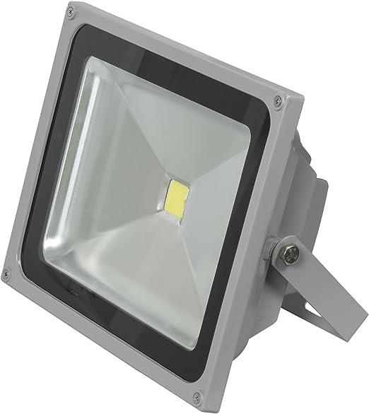 slpro® LED 50 W impermeable IP65 Foco exterior Luz Foco Luz focos Foco exterior jardín Foco Luz Blanca Fría exterior gris trabajo lámpara foco: Amazon.es: Iluminación