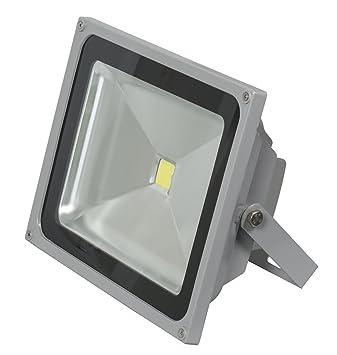 ALPHA DIMA Foco LED 50W IP65 Foco Exterior Resistente al Agua Luz Luz focos Foco Exterior Jardín Foco Blanco Cálido Luz Blanca Cálida Exterior Gris Trabajo ...