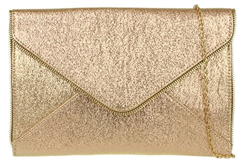 Girly Clutch Trim Gold HandBags HandBags Bag Zip Girly Zip rxRqrw76p