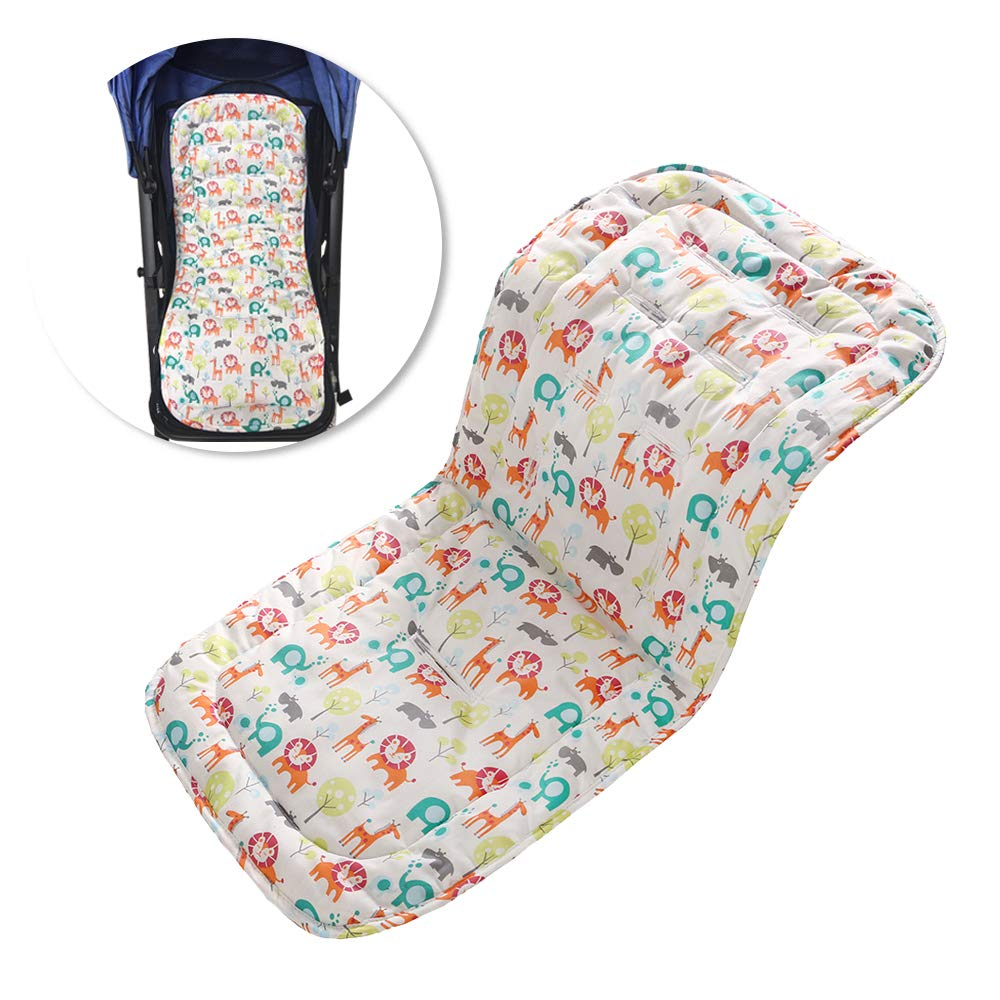 Twoworld Baby Stroller Cushion/Car Car Seat Pad/High Chair Seat Cushion Liner Mat Pad Cover Breathable Double Sides Use(Animal) by Twoworld