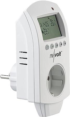 Revolt Thermostat num/érique pour chauffage et climatiseur jusqu/'/à 3680/W