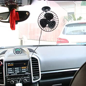 Greyghost 12V Mini ventilador eléctrico Aire acondicionado